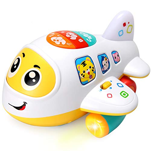 HOMOFY Baby Toys Electronic Airplane Toys with Lights & Music ,Best Kids Early Learning Educational Toys for Toddlers Boys and Girls 1 2 3 4 5 Year Old Gifts