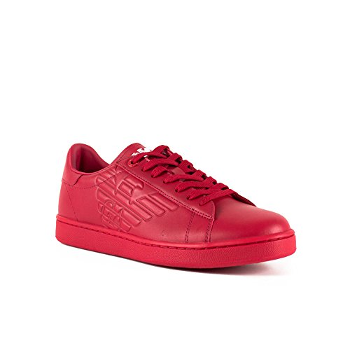 EA7 New Classic Leather Trainers Red
