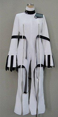 [CosEnter Anime Code Geass C.C. White Cosplay Costume] (Cc Code Geass Costumes)