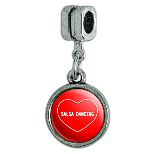 Italian European Style Bracelet Charm Bead I Love Heart Sports Hobbies R-S - Salsa Dancing