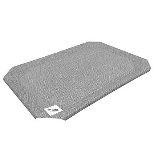 (Coolaroo Replacement Cover, The Original Elevated Pet Bed by Coolaroo, Large, Grey)
