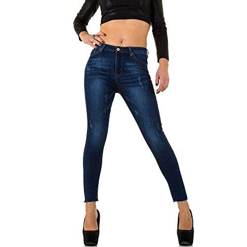 Ital Donna Jeans Blau z5012 Skinny j design Kl rHZtqrWw