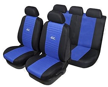 Set completo coprisedili GT Turbo universali per auto colore Nero-blu