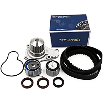 Timing Belt Kit Water Pump w/Gaskets Tensioner Fits 03-09 Chrysler PT Cruiser Sebring Votager and 03-07 Dodge Caravan Stratus and 02-06 Jeep Liberty ...