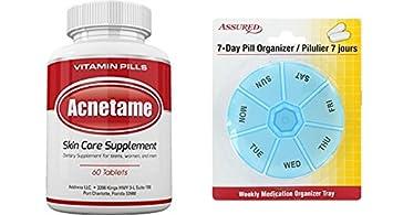 Acnetame-suplementos de vitaminas para el tratamiento del acné, 60 píldoras naturales con gratis