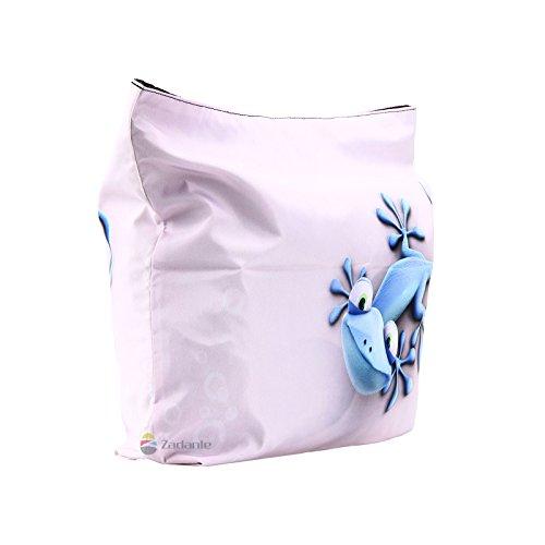 Newplenty Ladies Zippered Light Shoulder Shopping Tote Bag Handbag Beach Satchel (SB-6006) by newplenty (Image #3)
