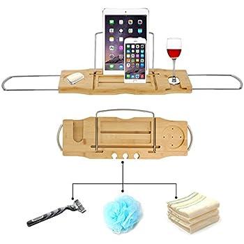 Amazon.com: Umbra Aquala Bamboo and Chrome Bathtub Caddy: Home ...