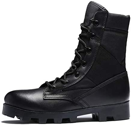 Herren High Top Trekking- und Wanderschuhe, Fashion-Militärstiefel, Desert Combat-Stiefel, Outdoor-Sportkletterschuhe, Schnürstiefel für Herren