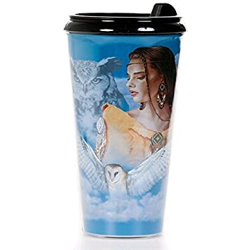 OBI Tumbler Travel Cup Back to Earth Collection White Tiger Insulated Coffee Travel Mug 16 oz with Lid