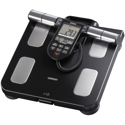 OMRON HBF-516B FULL BODY SENSOR BODY COMPOSITION MONITOR w/ SCALE, 7 FITNESS INDICATORS, 180 DAY MEMORY