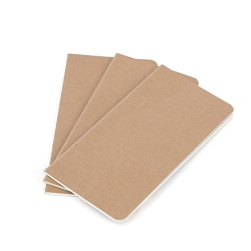 Wanderings Traveler's Notebook Refill Inserts - Lined Paper - Set of 3 | Journal Refills for Leather Travel Journals, Writers, Diaries and Planners | 8.25 x 4.25 Inch (21cm x 11cm) Double Sided White Refill Sleeve