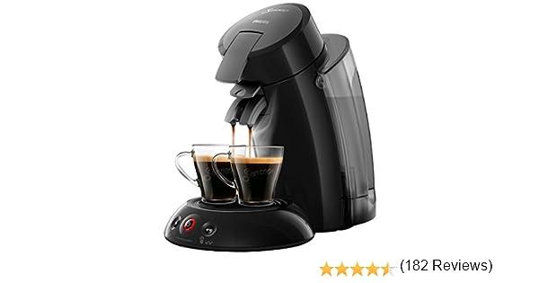 Philips Senseo Original XL HD6555/22 Cafetera Monodosis con Tecnología Coffee Boost, Negro, 22.5x46.6x37 cm