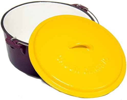 Cajun Classic 16-Quart Enamel Cast Iron Dutch Oven – Purple Gold – GL10490PG