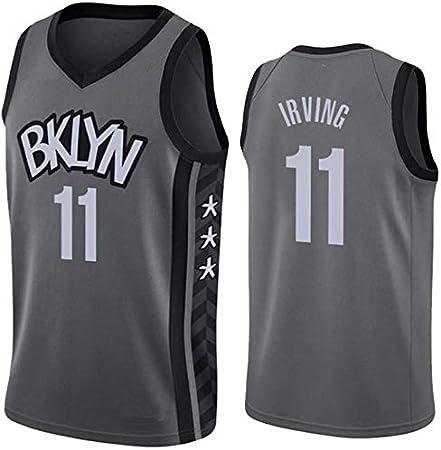 Imagen deCamiseta de Baloncesto para Hombre, Nets #11 Irving #7 Durant Camisa Bordada de Swingman de Malla