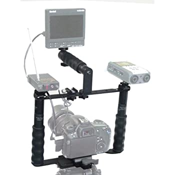 Image of Stabilizers ALZO Transformer DSLR Rig Full Gear Kit, Camera Cage Bracket Including Handle, Hand Grips, Ball Mount, Shoe Mount, Quick Release, Height Extenders