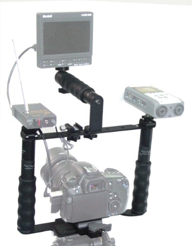 ALZO Transformer DSLR Rig Full Gear Kit, Camera Cage Bracket Including Handle, Hand Grips, Ball Mount, Shoe Mount, Quick Release, Height Extenders by ALZO Digital