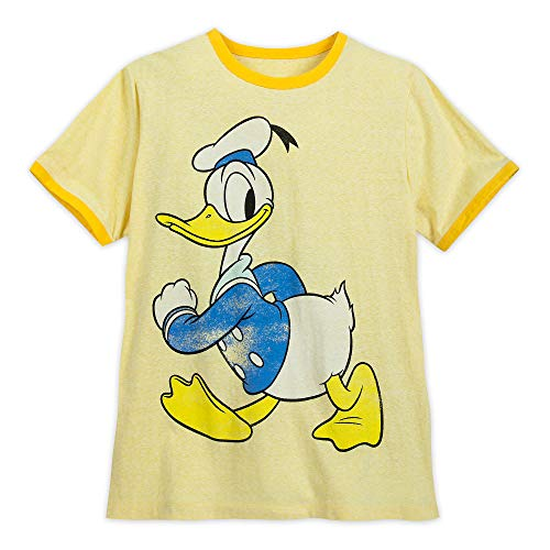 Disney Donald Duck Ringer T-Shirt for Men Size Mens XXL Multi