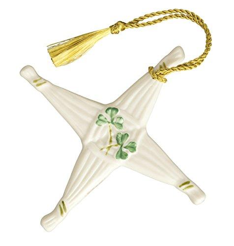 Belleek Cross (Belleek 1994 St. Brigids Cross Ornament, 4-Inch, White)
