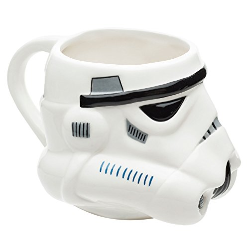Zak Designs Star Wars Ep4 Stormtrooper Unique 3D Character Sculpted Ceramic Coffee Mug, Collectible Keepsake and Wonderful Tea Mug (16 oz., Stormtrooper, BPA-Free)