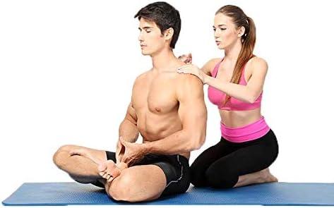 Yoga mat 厚いヨガマットフィットネスとエクササイズマット(200センチメートルロングX 160センチメートルワイドXの厚さ15mm) workout