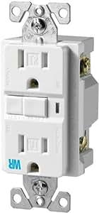 Cooper Wiring Devices TWRVGF15W 15-Amp 2-Pole 3-Wire 125-Volt Tamper and Weather Resistant Ground Fault Circuit Interrupter Duplex, White
