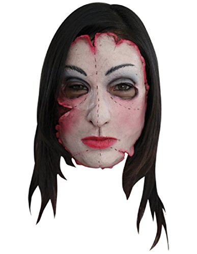 Female Serial Killer Costumes (Morris Costumes Halloween Party Cosplay Serial killer 16 Latex Face Mask)