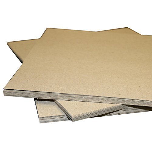 8.5x11 22PT Chipboard 200 Pack | .022 Thickness | Brown Scrapbooking brown kraft sheets | Pad Inserts for mailing and shipping protection and many other uses | Secure Seal by SHIPPING DEPOT by Secure Seal
