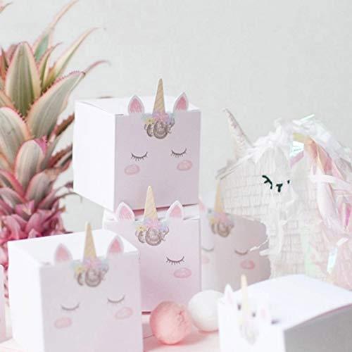 Xiaogongju DIY Unicornio Candy Box cumpleaños Fiesta ...