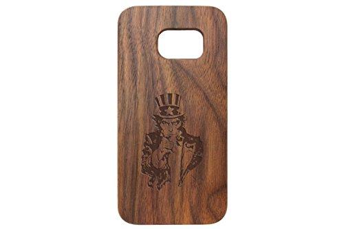for Samsung Galaxy S7 Black Walnut Wood Phone Case NDZ Uncle Sam Inverse -