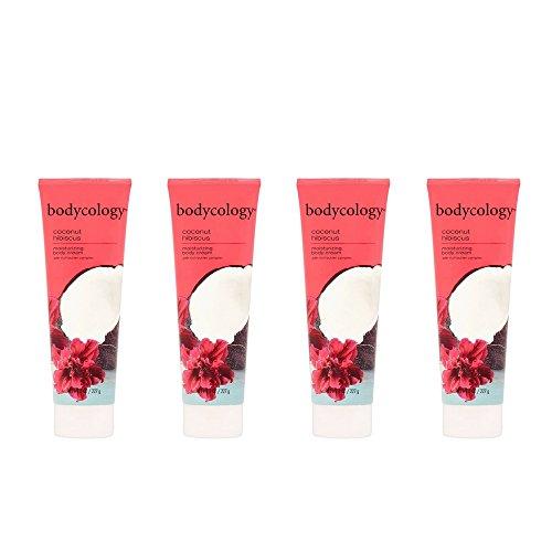 Bodycology Coconut Hibiscus Moisturizing Body Cream - 8 Oz (4 Pack)