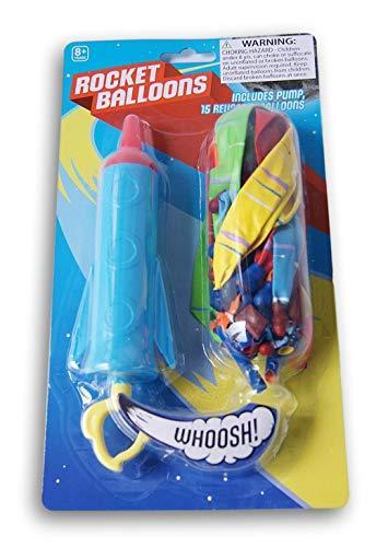 (Toy Rocket Balloons and Pump Set)