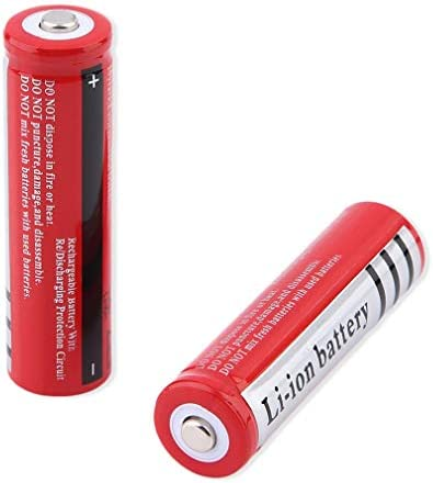 18650 Li-ion Battery 3000mAh 3.7V Rechargeable 18650 Lithium Battery Large-Capacity Long Battery Life,for LED Flashlight Torch,Headlamp,Most Electronic Devices (2 Pcs)
