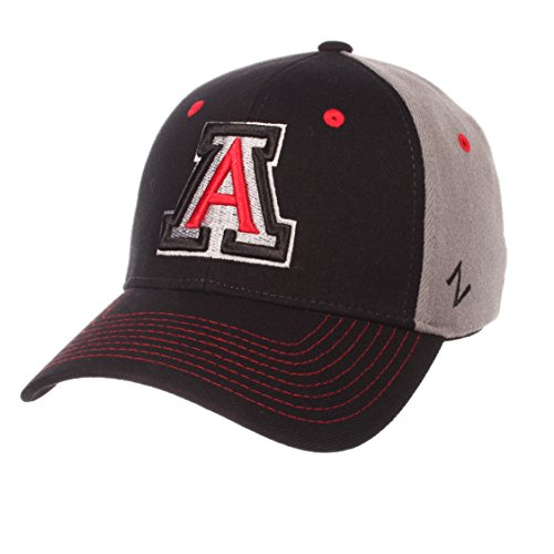 Zephyr NCAA Arizona Wildcats Men's Duo Hat, Medium/Large, Black/Gray -