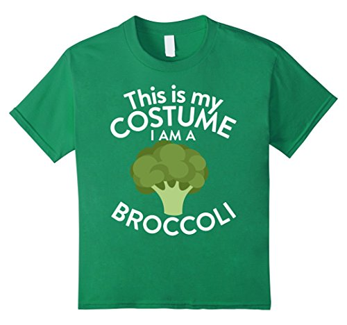 Kids This Is My Costume I'm A Broccoli T-shirt Broccoli Lovers 12 Kelly (Cute But Scary Halloween Costumes Ideas)