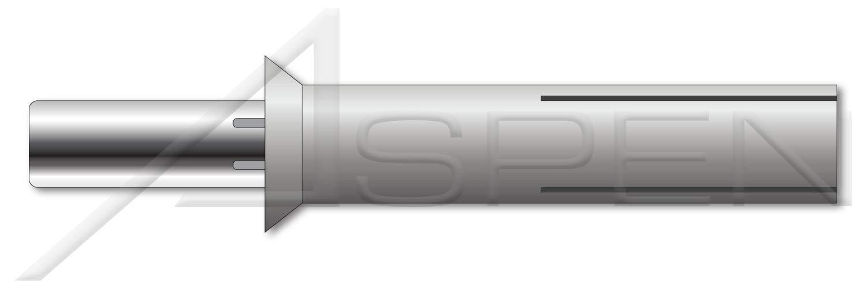 1000 pcs Countersunk Head 5//32 X 3//8 Aluminum Body//Stainless Steel Pin Drive Pin Rivets