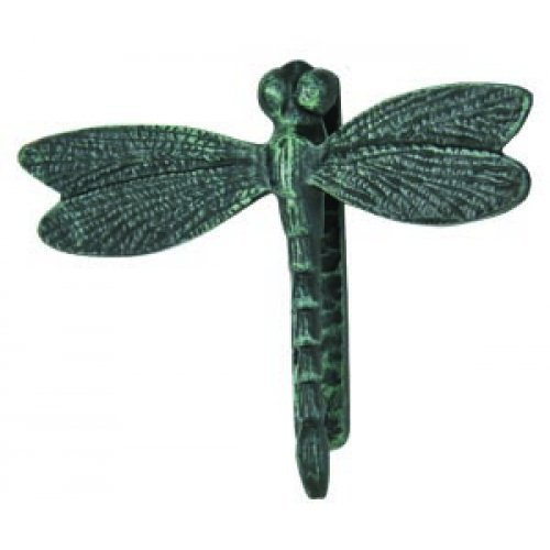 Large Cast Iron Dragonfly Door Knocker with Verdigris Finish