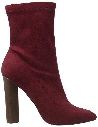 Boohoo Paige Stretch Sock - Botines Mujer Rojo (Berry Micro)