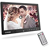 Digital Photo Frame, Cornmi Digital Picture Frame Music HD Body Motion Sensor Auto Rotation Alarm Calendar Video Player With Remote Control for Wedding Commemoration Valentine's Day gift