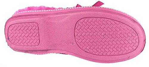 Dijon Fur Stitch Mirak Pink Accented Slipper Ladies Textile Faux pwrpqF5t