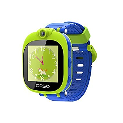 Orbo Kids Bluetooth Phone Pairing Smartwatch with Rotating Camera, Blue