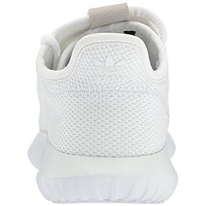adidas Originals Boys' Tubular Shadow J Sneaker, White/Core Black/White, 5 M US Big Kid