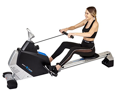 Body Xtreme Fitness - Rowing Machine Turbo 2000, Home Exercise Equipment, Fitness, Lose Weight, Cardio, Arm workout, Training and Exercise Rower + BONUS COOLING TOWEL by Body Xtreme Fitness USA