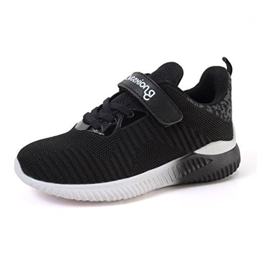 Niños Calzado deportivo Zapatillas de correr Zapatillas de baloncesto Zapatos casuales al aire libre de moda Ligero Transpirable Cómodo Negro