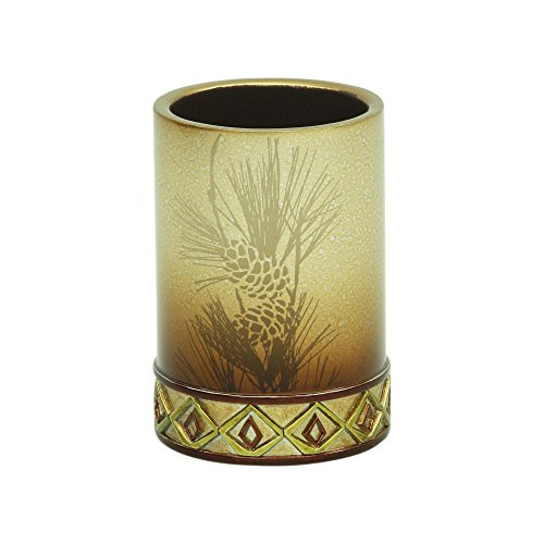 Bacova Guild Pine Cone Silhouettes Tumbler Designed by Cynthia Coulter