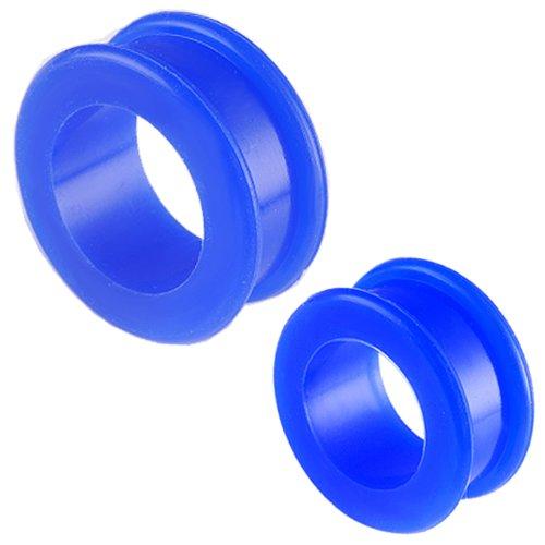 bijouterie piercing elargisseur oreilles ear lobe flesh tunnel plug ecarteur 28mm 30mm silicone 4 pcs FETS