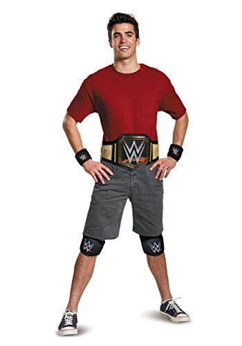 Disguise Men's WWE Championship Belt Adult Costume Kit, Multi, One Size (Madcatz Wwe)