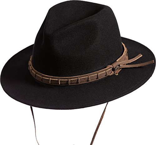 Overland Sheepskin Co Country Crushable Australian Wool Waterproof Safari Hat