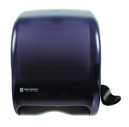 San Jamar T950TBK Element Lever Roll Towel Dispenser, Classic, Transparent Black Pearl - San Jamar Paper Towel Dispensers