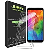 [3-Pack] LG Q7/LG Q7 Plus Screen Protector, JUMPY 9H Hardness Premium Tempered Glass with Lifetime Replacement Warranty for LG Q7/LG Q7 Plus