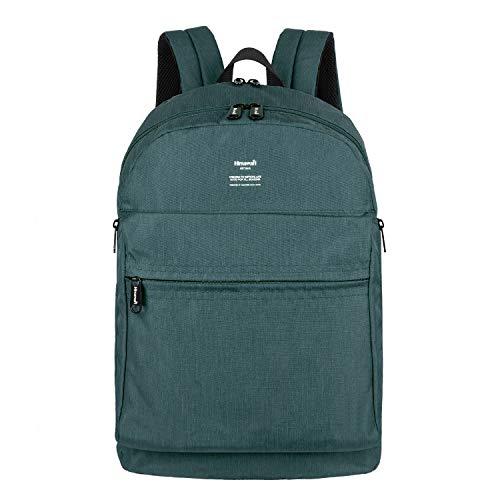 15.4 Inch Backpack Green Canvas - Himawari School Bag for Boys Girls-Student Backpack, Unisex College Bookbag Back Bag,Fits 15.4 inch Laptop,Travel Water-Resistant Rucksack for Men/Women (L, 1016-Green)